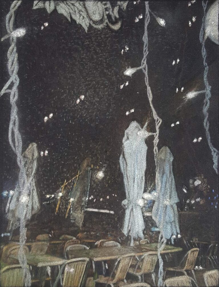 Sans titre 2 - 2009 - pastel sec sur papier velours - 21 x 28 cm